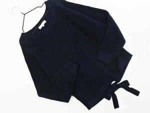 KUMIKYOKU 組曲 ニット セーター sizeS2/濃紺 ◇■ ☆ bic9