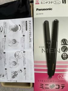 パナソニック ヘアアイロン メンズ コンパクトサイズ アレンジ・ストレート 2Wayタイプ 黒 ミニコテ for MEN EH-HV15