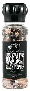 シェフズチョイス ヒマラヤ岩塩&オーガニックブラックペッパー 200g ミル付き オーストラリアブランド