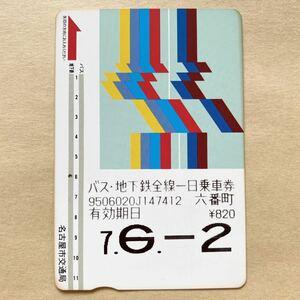 【使用済】 バス・地下鉄全線一日乗車券 名古屋市交通局