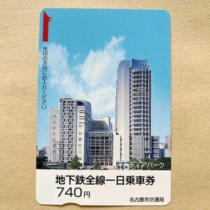 【使用済】 地下鉄全線一日乗車券 名古屋市交通局 メディアパーク