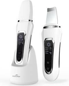 ウォーターピーリング HOSCARER 美顔器 7 in 1 超音波ピーリング 美顔器 イオン導入 イオン導出 Ems微流 多機能美顔器 毛穴ケア 角栓