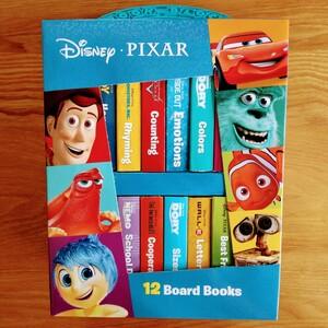 【新品】Disney PIXAR 英語絵本 ミニボードブックBOX