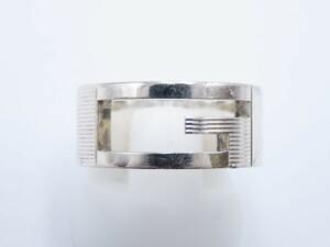 【グッチ】Gリング/925/シルバー/#9/8号/8.5号/リング/指輪/アクセサリー/メンズ/レディース/ユニセックス/GUCCI