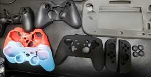 ゲームコントローラー シリコンカバー/switchジョイコン、プロコン、wiiu、ps4、ps3(×2)、xbox360