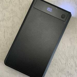 AquaPC★Qc3.0PowerBankCaseType-C入力急速充電 DIY18650×6充電ボックス★