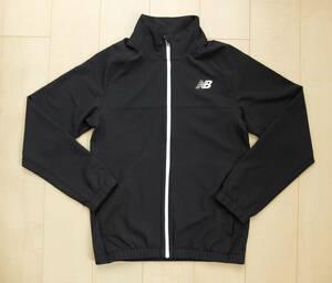 新品!ニューバランス New Balance 胸ロゴ ブルゾン 黒 ブラック ジャケット アウター メンズM 長袖