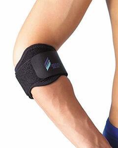 江崎器械 ブラック M エサキ テニスエルボー () シリコンパッド付 肘サポーター テニス肘 や ゴルフ肘 と呼ばれる