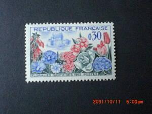 ナント花の博覧会 1種完 未使用 1963年 フランス・仏国 VF/NH