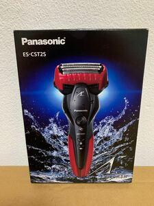 新品未使用 Panasonic パナソニック ラムダッシュ メンズシェーバー 3枚刃 お風呂剃り可 赤 ES-CST2S-R