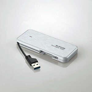 USB3.2(Gen1)外付けポータブルSSD 1TB ケーブル一体型タイプ データ復旧サービスLite付 PlayStation4/4 Pro/5対応: ESD-ECA1000GWHR