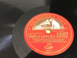 SP盤 6枚 英HMV ベートーヴェン 協奏曲 フルトヴェングラー DB6574-6578 DBS6579 ICR