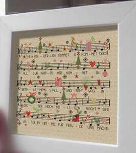 クロスステッチキット クリスマスソング 楽譜 譜面 33×34cm 刺繍