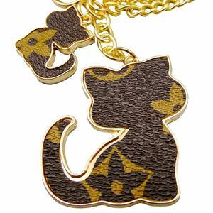 ネコ キーホルダー バッグチャーム 可愛い 猫 人気柄 ブラウン QM023