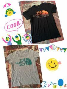 THE NORTH FACE ザ ノースフェイス Tシャツ 2枚 レディース S M キャンプ アウトドア ガーデン