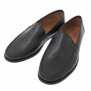 【本物保証】 美品 ガーデン garden ビジネスシューズ ローファー 高級革靴 靴 レザー 黒 ブラック メンズ