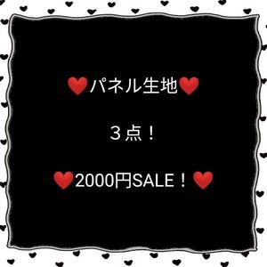 ☆パネル生地☆   3点セット!  SALE!