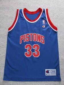 NBA HILL #33 PISTONS グラント・ヒル ★デトロイト・ピストンズ Champion チャンピオン製 ジュニア ユニフォーム 当時物 タンクトップ