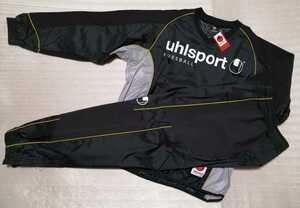 uhlsport ウールシュポルト/キーパーウィンドアップジャケット&パンツset ブラック M(U91401/U91402 19)定価12500+税