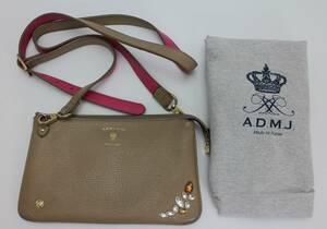 A.D.M.J. アクセソワ・ドゥ・マドモワゼル ウォレット ショルダーバッグ レザー 中古 エーディーエムジェイ バッグ かばん 鞄
