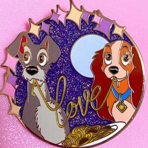 【新品!】わんわん物語 レディ ディズニー ピンバッジ ピンバッチ ピンズ ピントレ レディ トランプ WDW 犬 dog