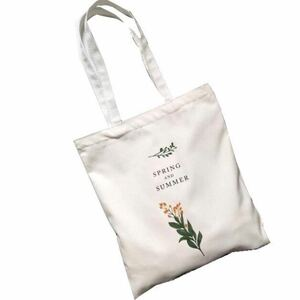【新品】☆Flower Design Tote Bag☆ 花柄トートバッグ 帆布 チャック付き エコバック マザーズバッグ
