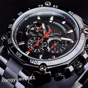 新品高級★男性腕時計 43mm 機械式 自動巻き 多機能 カレンダー 曜日表示 メンズウォッチ ステンレス 夜光 防水 カジュアル B/S◇