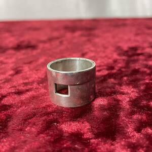 SV925 銀無垢 GUCCI グッチ Gロゴ ブランデッド リング 指輪
