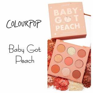 Colourpop eyeshadow palette ★ baby got peach カラーポップ アイシャドウ ピーチ
