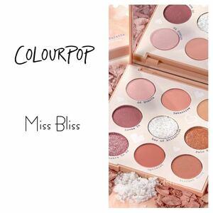 Colourpop eyeshadow palette miss bliss カラポ アイシャドウパレット