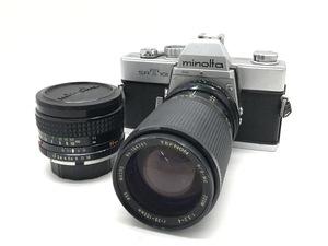 【まとめ】 カメラ MINOLTA SR T101 / TEFNON H/D-MC ZOOM 1:3.2-4 f=35-105mm 一眼レフカメラ 他 レンズ 2点 まとめ ジャンク 中古