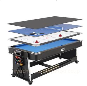 新入荷☆品質保証☆4in1 マルチゲームテーブル ビリヤードテーブル エアホッケーテーブル 卓球 ダイニングテーブル トップ付き