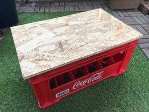 オシャレ コカコーラビールケース 折畳天板セット