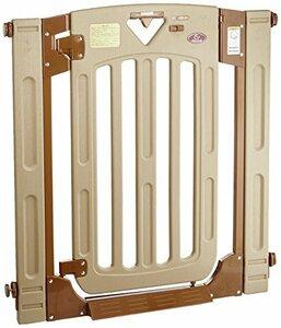 ブラウン 日本育児 ベビーゲート/ペットゲート スマートゲイト II 6ヶ月~24ヶ月対象 扉開閉式の突っ張りゲート 幅木よけつ