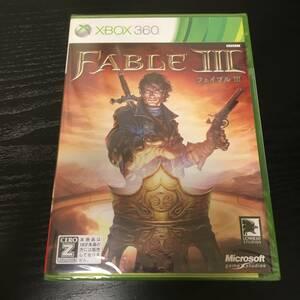 新品未開封 Xbox360ソフト Fable III 通常版 同サイズ4本まで同梱可