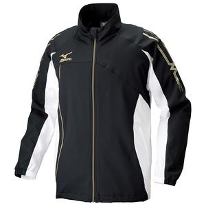 ミズノ mizuno ジャージ ジャケット メンズ 上 ムーブクロスシャツ スポーツ トレーニング ブラック 32MC503009 Lサイズ 10153