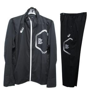 アシックス asics ジャージ ジャケット メンズ 上下 LIMOストレッチクロス トレーニングウェア スポーツ ブラック Lサイズ 23768