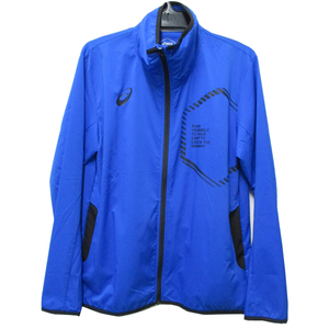 アシックス asics ジャージ ジャケット メンズ 上 LIMO ストレッチクロスジャケット トレーニングウェア スポーツ ブルー Mサイズ 23000
