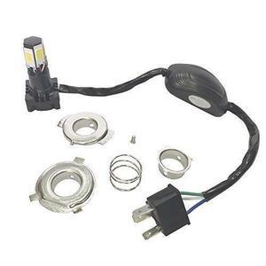 即決 Hi/Lo切替 12V 360°超高輝度発光 バイク KYOUDEN LEDヘッドライト PH7/PH8/H6/H4/HS1対応 6面発光 36W 6500K COB ホワイト