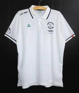 美品 LECOQ GOLF ルコックゴルフ 吸汗速乾 ドライ 半袖 ポロシャツ 3L 白