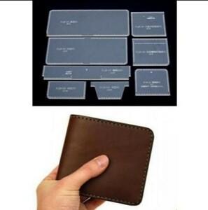 二つ折り 財布 透明 レザークラフト用アクリル型セット
