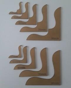 角花飾り 財布 透明 アクリル型 レザークラフト 型紙