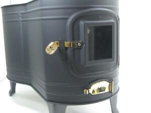 ホンマ  ステンレス製 黒耐熱窓付時計型ストーブ (本体のみ)