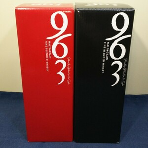 笹の川酒造「963 ウイスキー 赤ラベル・黒ラベル(終売品)」《2本セット》