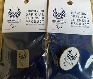 東京2020パラリンピック ピンバッジ 四角黒EMマットニッケル+楕円カラーEMゴールド 東京オリンピック