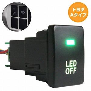 トヨタAタイプ ラクティス 100系 H17.10~H22.10 LED:グリーン/緑 ON/OFFスイッチ USBスイッチホールカバー 電源スイッチ オルタネイト式
