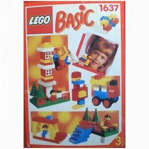 sE218 廃盤品レア レゴ 1637 基本セット ※パーツ確認済み LEGO社純正品