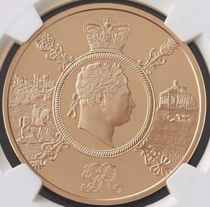 【最高鑑定】2020年 ジョージ3世 没後200年記念 5ポンド金貨 NGC PF70UC イギリス 1オンス 5ポンド プルーフ 金貨 モダンコイン投資 鑑定済