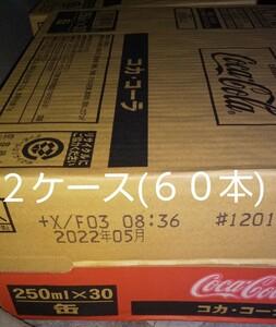 コカ・コーラ250ml缶×60本(2ケース)です。賞味期限22年05月。値下げはご遠慮ください。m(_ _)m