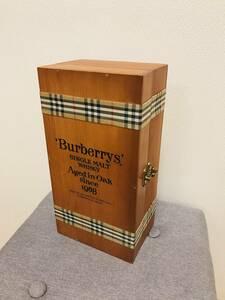 未開封 1968年 バーバリー シングルモルト ウイスキー Burberrys' SINGLE MALT WHISKY Aged in Oak since 1968 木箱付 750ml 送料無料